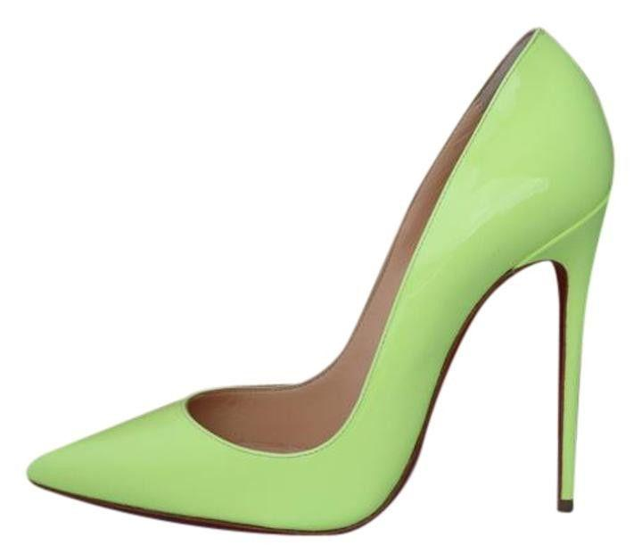 Свадьба - Christian Louboutin So Kate 120 Pigalle Neon Yellow Patent Pumps Shoes