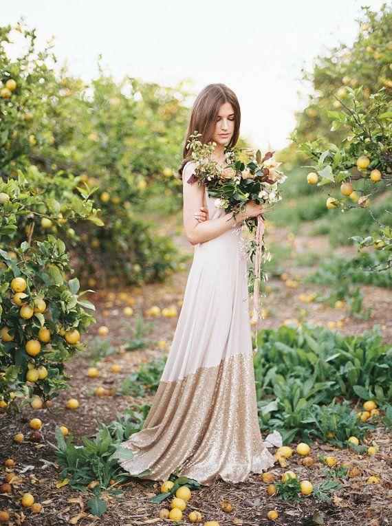 Свадьба - Coralie Beatrix Bella Luna Sequin Dipped Octopus Infinity Wrap Dress ~ Custom Combine Fabrics~ No Train ~Vintage, Prom, Bridal, Bridesmaids
