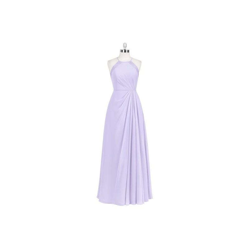 Wedding - Lilac Azazie Heather - Chiffon Halter Illusion Floor Length Dress - Cheap Gorgeous Bridesmaids Store