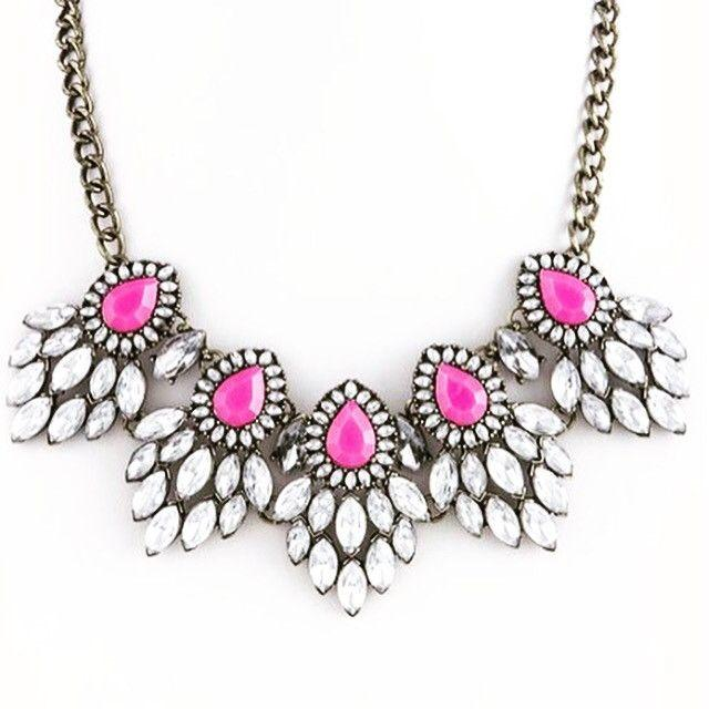 زفاف - Fuschia Statement Necklace