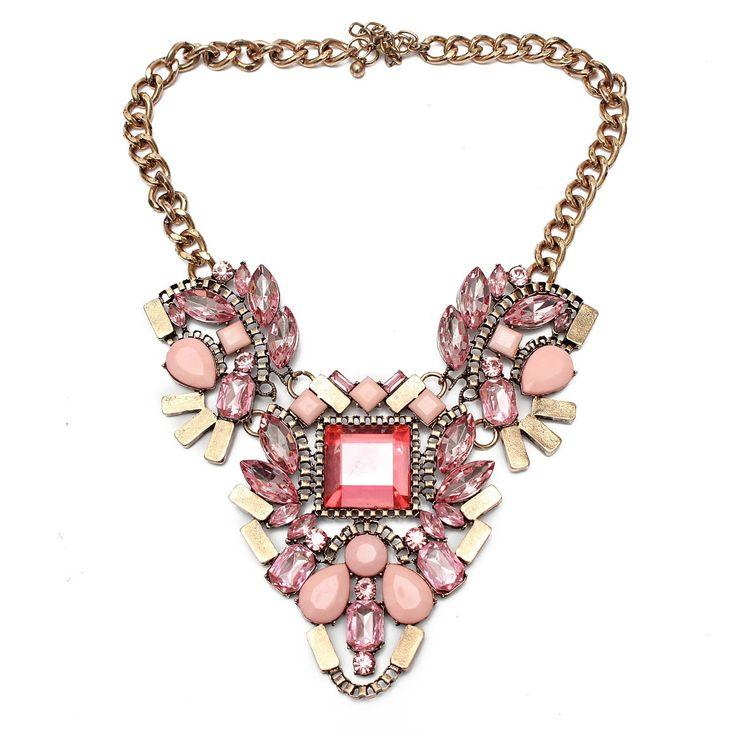 Mariage - Crystal Flower Pandent Statement Necklace