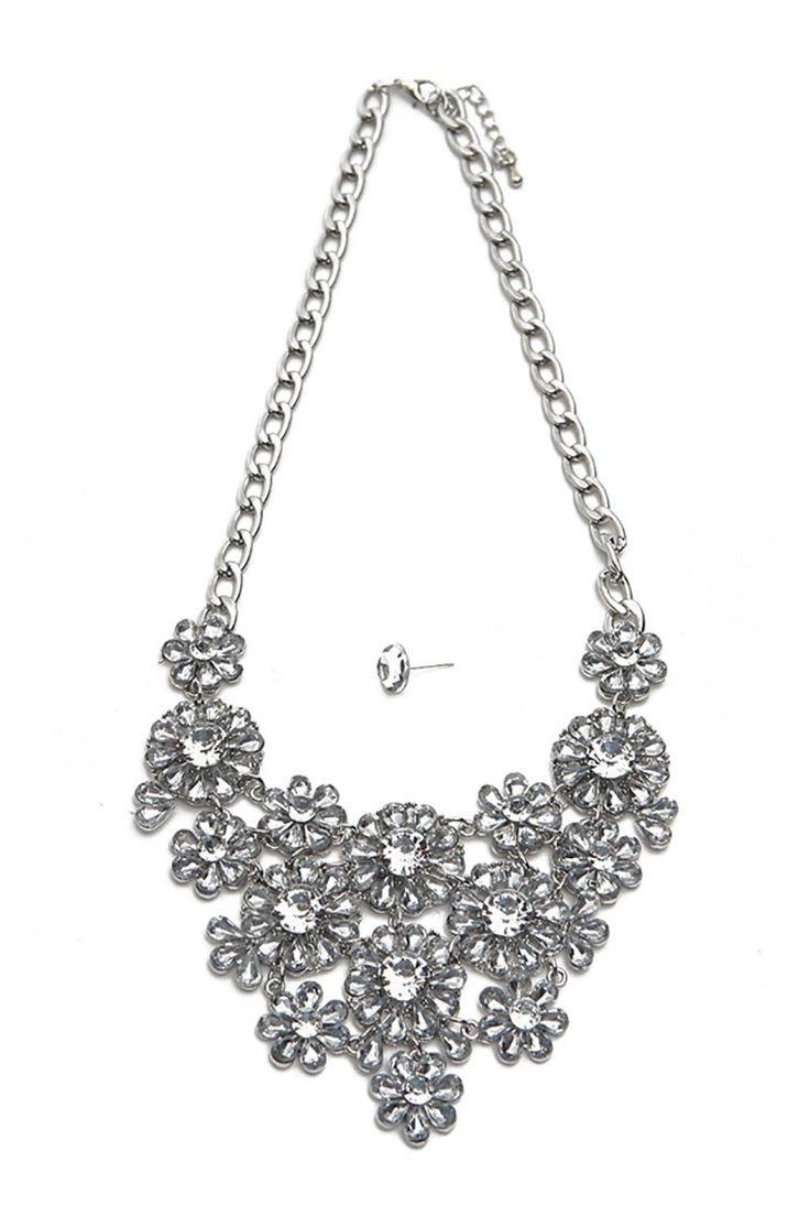 Mariage - Glass Crystal Statement Necklace