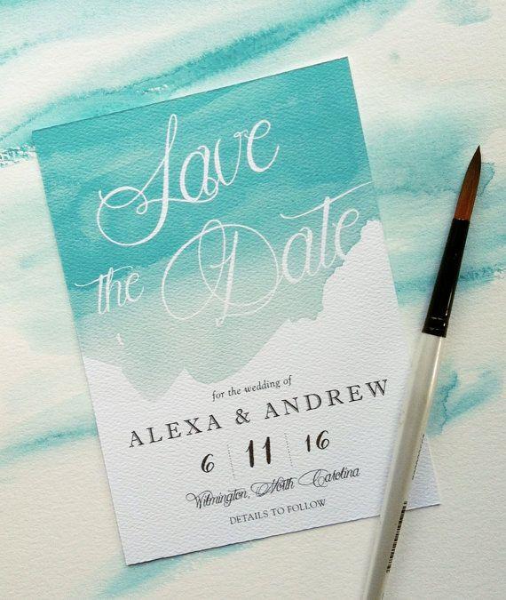 Wedding - Sample - Watercolor Splash Save The Date Card