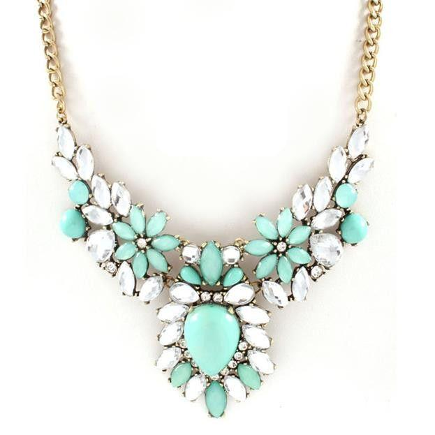 Mariage - Mint Statement Necklace