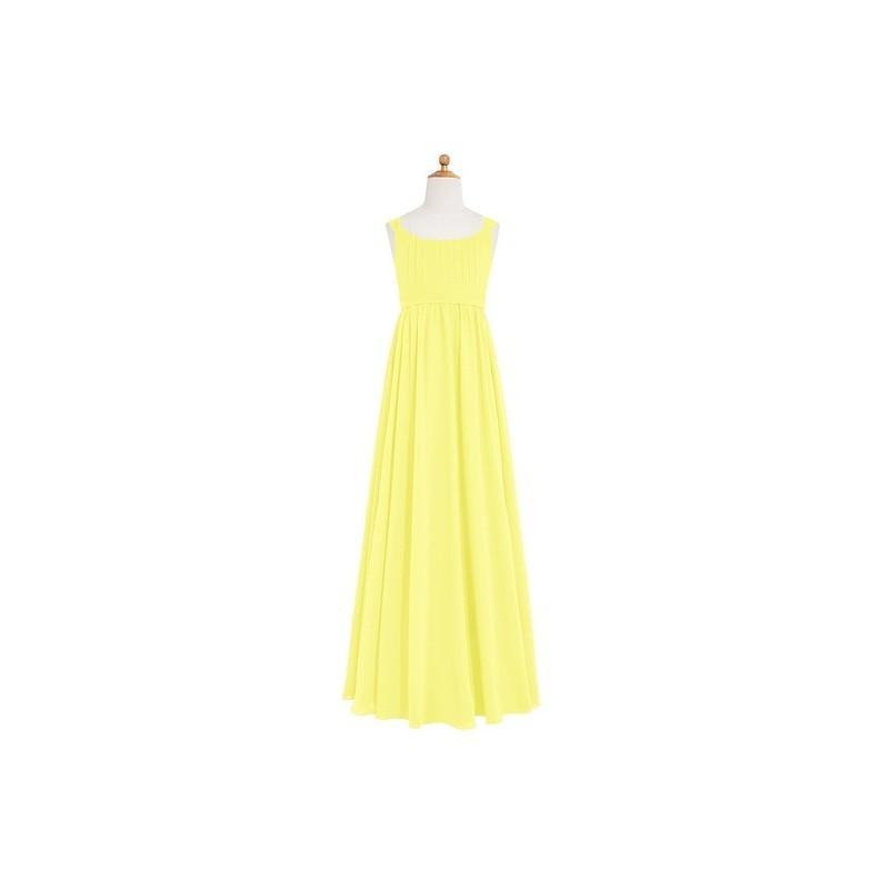 77f0c23857b Lemon Azazie Tiana JBD - Chiffon Scoop Bow Tie Back Floor Length Dress -  Cheap Gorgeous Bridesmaids Store