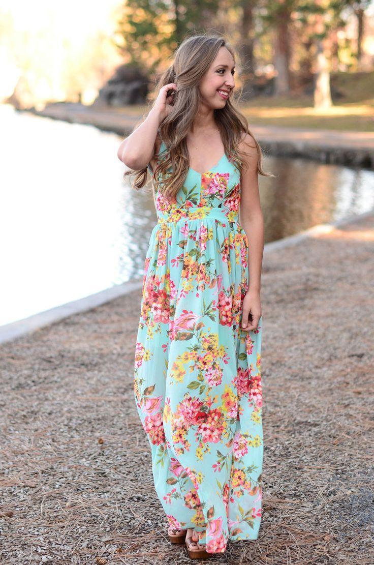 Hochzeit - Heaven Sent Maxi Dress - Mint