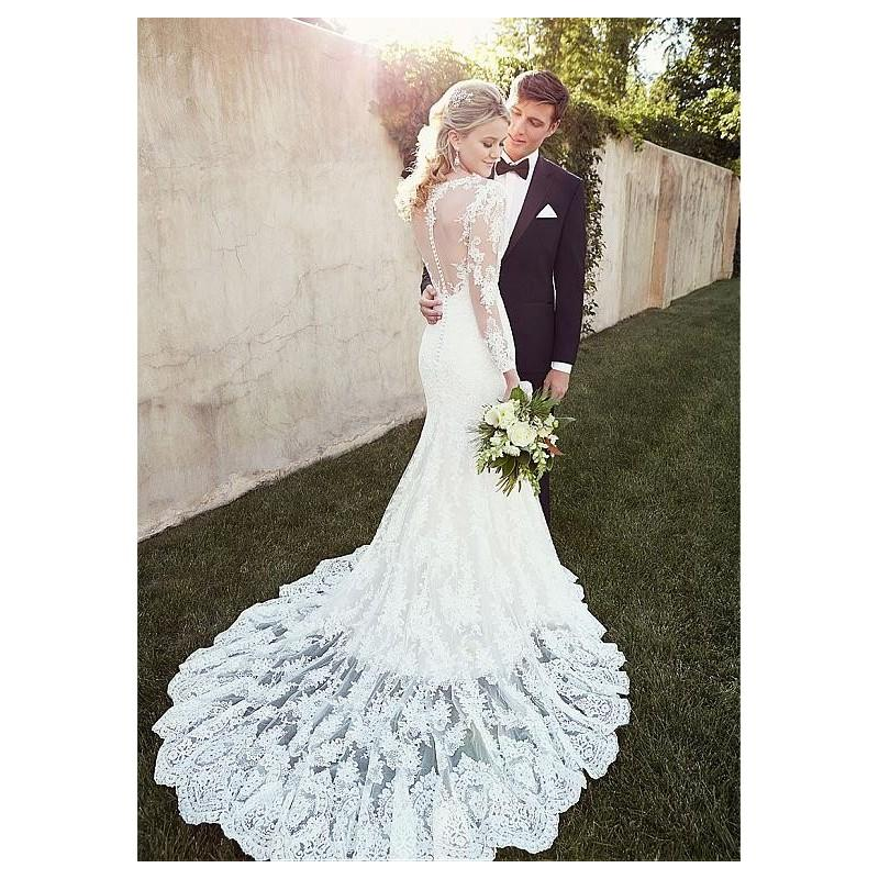 Свадьба - Elegant Tulle Bateau Neckline Natural Waistline Mermaid Wedding Dress With Lace Appliques - overpinks.com