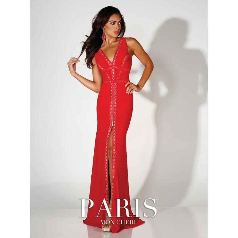 Wedding - Red Paris by Mon Cheri 116775 Paris Prom by Mon Cheri - Top Design Dress Online Shop