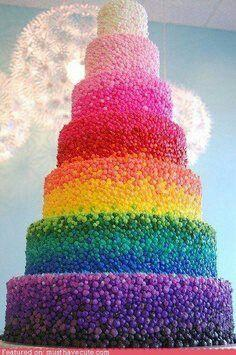 Hochzeit - Confetti Wedding Cakes That'll Put A Smile On Your Face