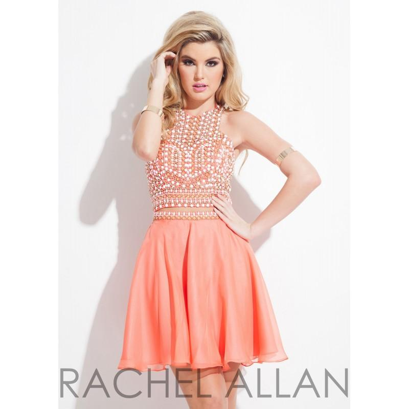 Mariage - Rachel Allan 4019 Beaded Cropped Halter Two Piece Dress - 2017 Spring Trends Dresses