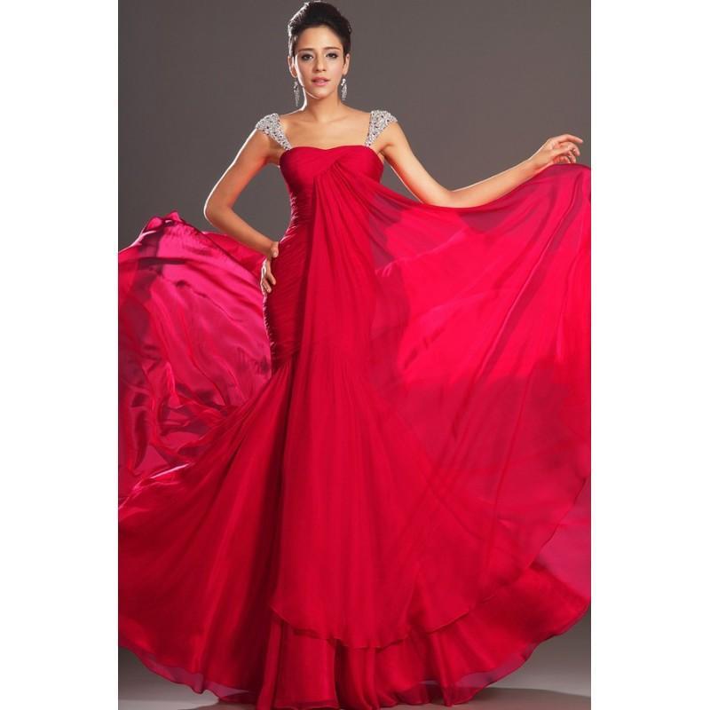 Свадьба - 2017 Amazing Mermaid Prom Dresses Regular Beadings&Sequins Straps Long Chiffon Skirt online In Canada Prom Dress Prices - dressosity.com