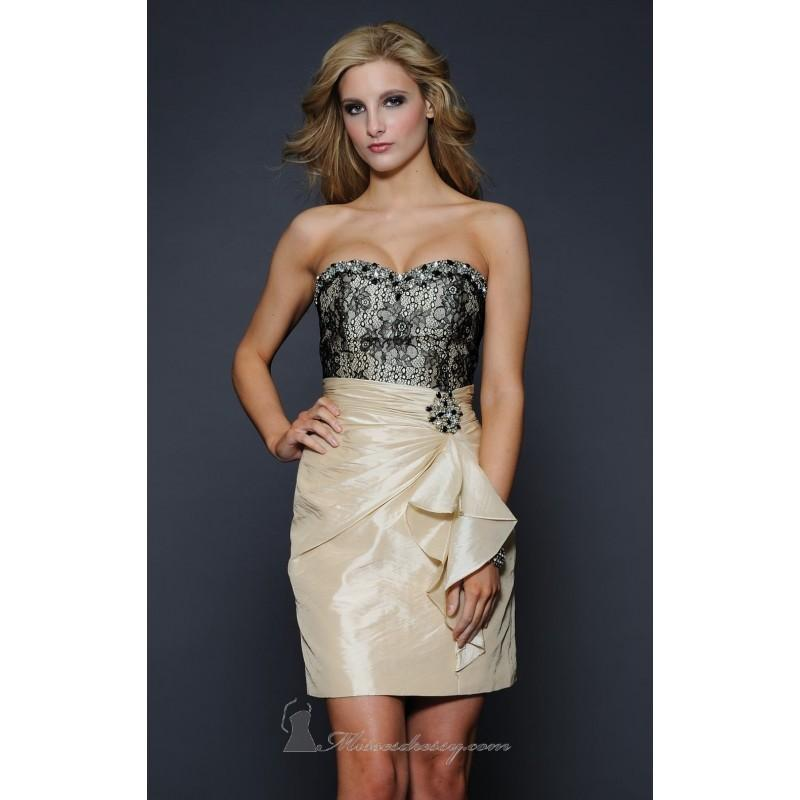 Wedding - Strapless Short Dress by Lara Designs - Color Your Classy Wardrobe