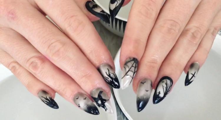 Свадьба - Black Magic Press on Nails