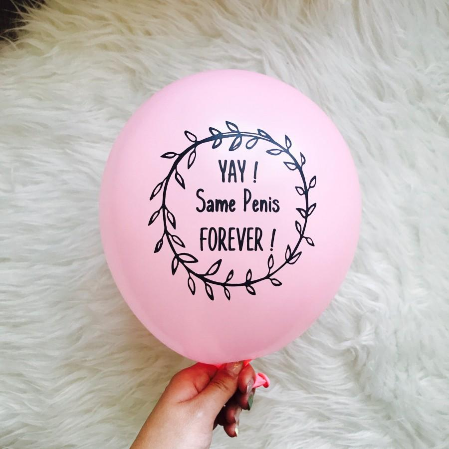 Свадьба - Bachelorette Party Balloon YAY Same Penis Forever Pink Balloon Set of 5 - Bachelorette Party Decorations -  Penis Party Decorations