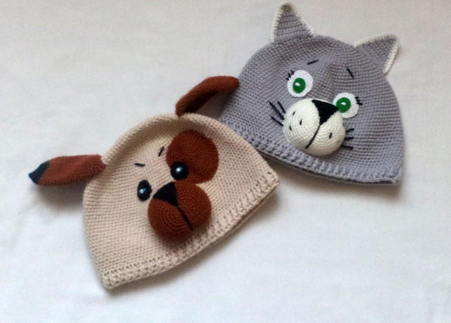 Свадьба - Cap mask carnival crochet animal cap children's hats
