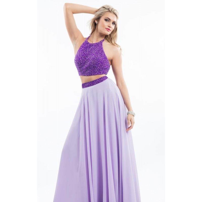 Свадьба - Purple/Lilac Two-Piece Beaded Chiffon Gown by Rachel Allan - Color Your Classy Wardrobe