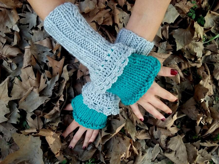 Свадьба - Women Knitted Gloves, crochet Fingerless gloves, Knitted Arm Warmer, Women crochet Gloves, Winter Gloves, crochet Fingerless, Arm Warmer