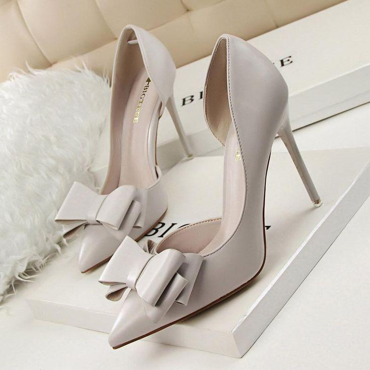 Wedding - Women Sweet Bowknot High-heeled Shoes