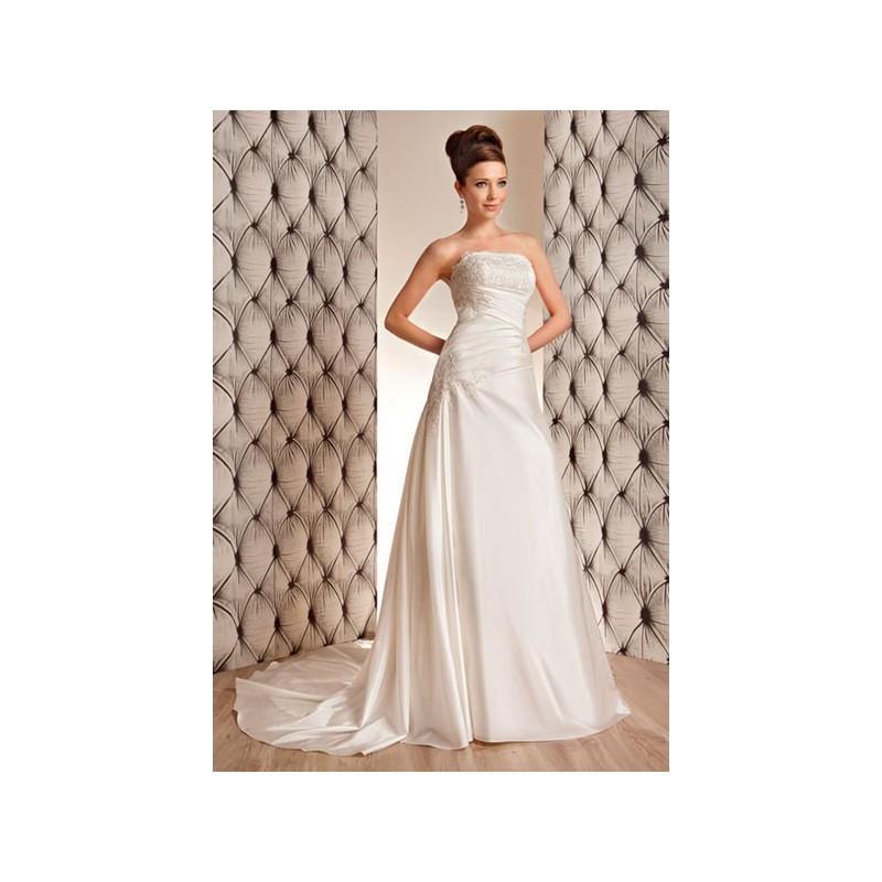 Свадьба - Vestido de novia de OreaSposa Modelo L665 - 2014 Evasé Palabra de honor Vestido - Tienda nupcial con estilo del cordón