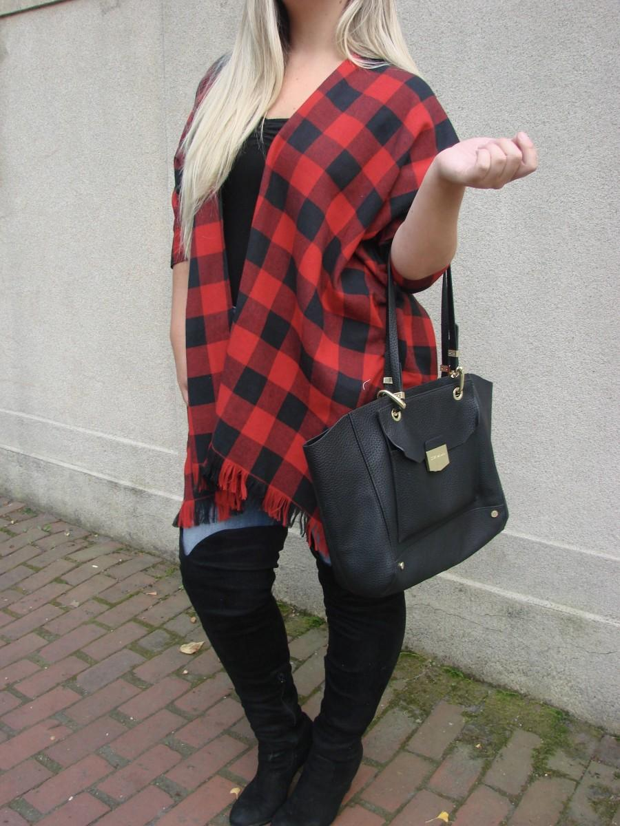 Düğün - buffalo plaid duster kimono, red and black kimono, flannel, plaid, checkers shirt, oversized open shirt, gift for her, red and black plaid