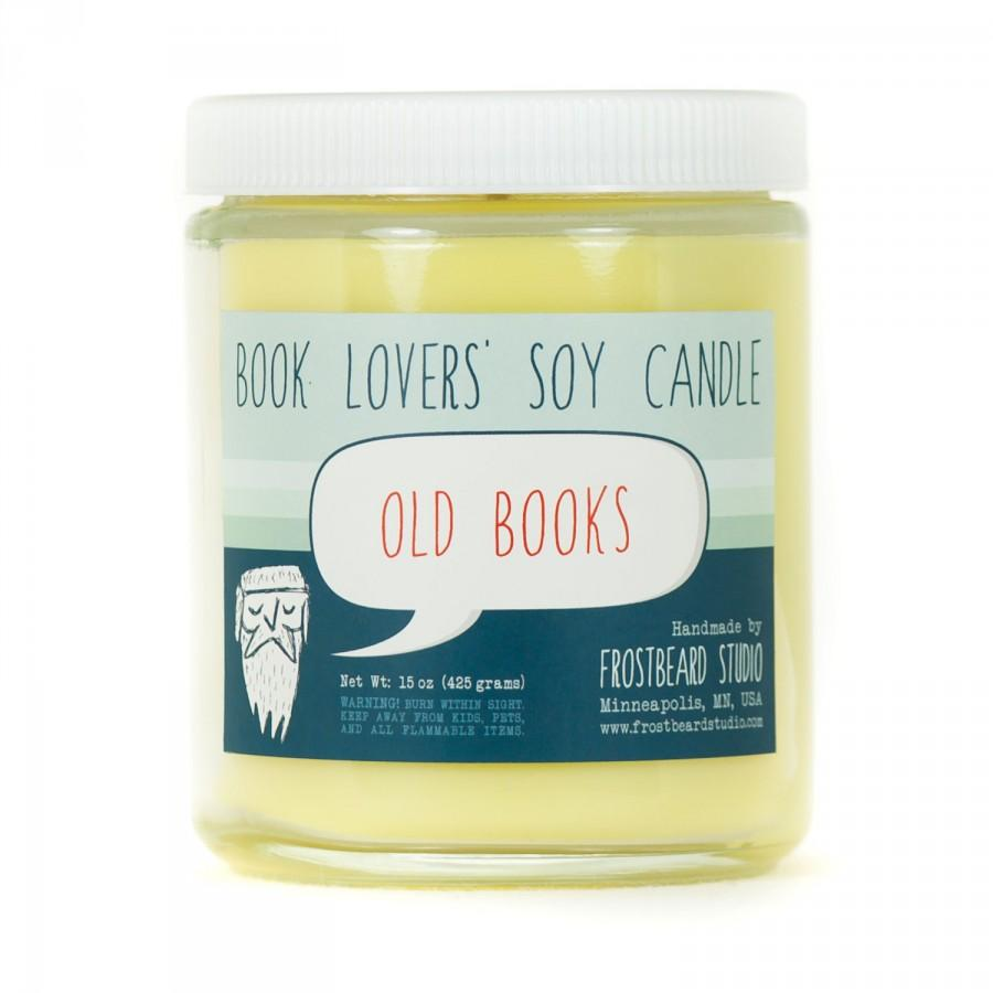 Mariage - Old Books - Book Candle -  Book Lover Gift - Scented Soy Candle - Frostbeard Studio - 8oz jar