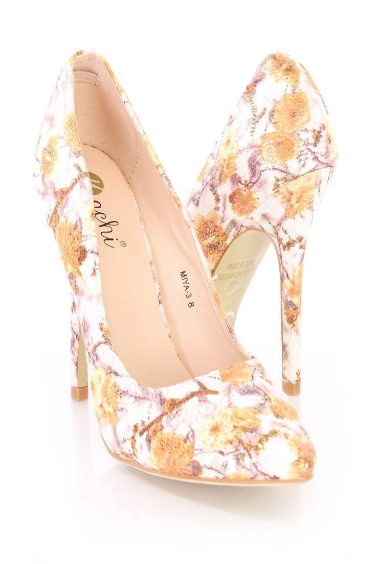 زفاف - Floral Heels