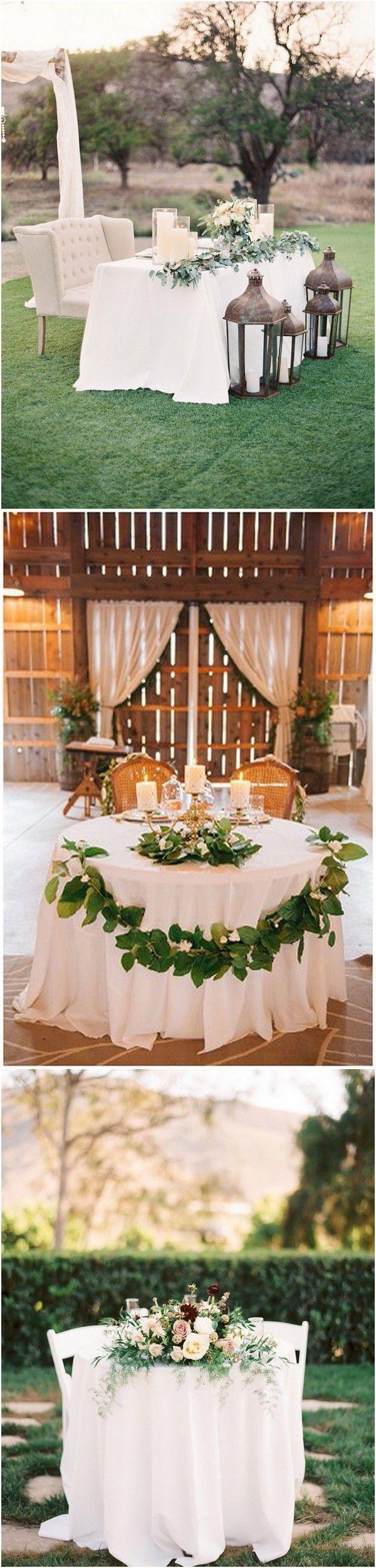 Свадьба - 15 Romantic Wedding Sweetheart Table Decoration Ideas - Page 2 Of 2