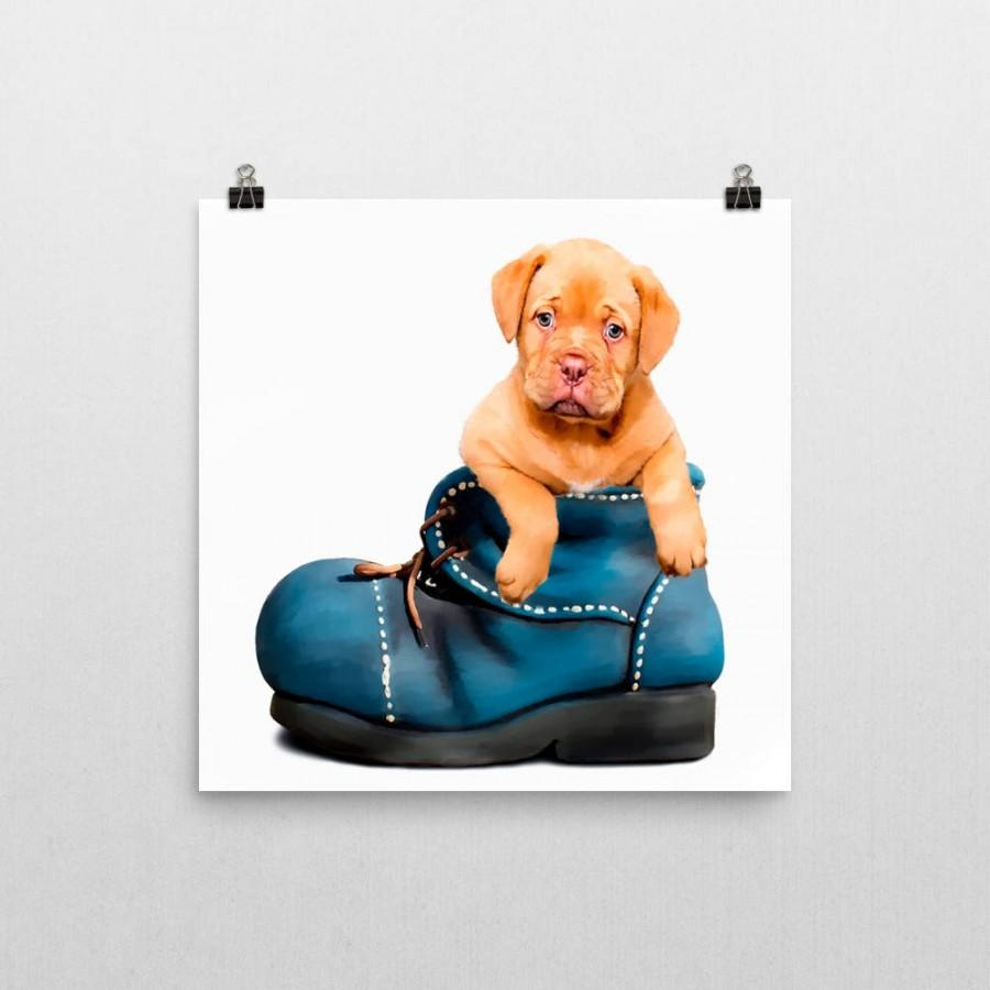 Свадьба - Golden labrador puppy downloadable print. Nursery or kids bedroom printable poster wall hanging. Print at home instant home dog pup artwork