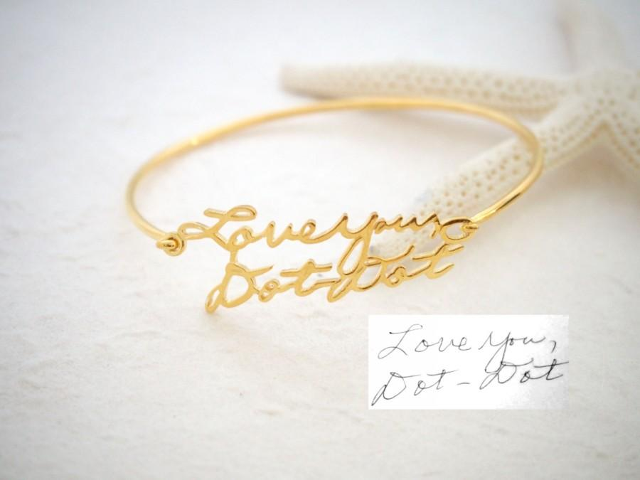 Düğün - Signature Bangle • Handwriting Bracelet in Sterling Silver • Handwriting Bangle • Handwritten Bangle • Mother Gift • Christmas Gift • BH05