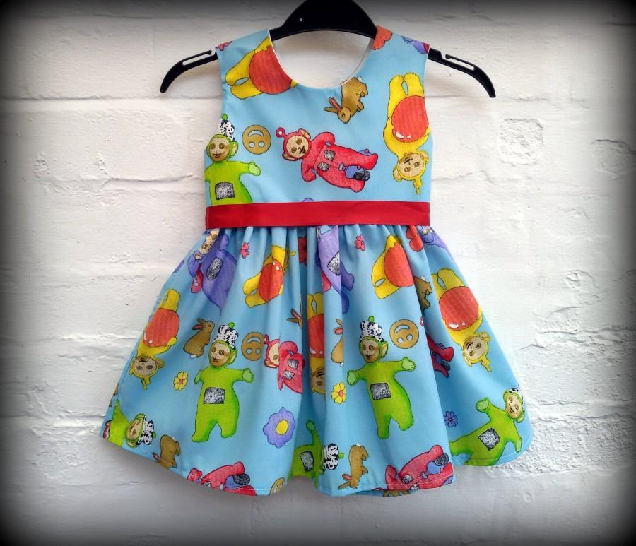 Boda - Teletubbies dress,  smash cake dress, first birthday dress,party dress, Teletubbies lovers , handmade dress, baby dress