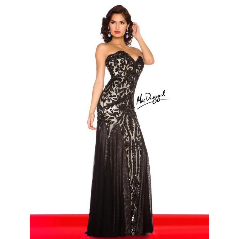 Düğün - 3720R Mac Duggal Black and White - HyperDress.com