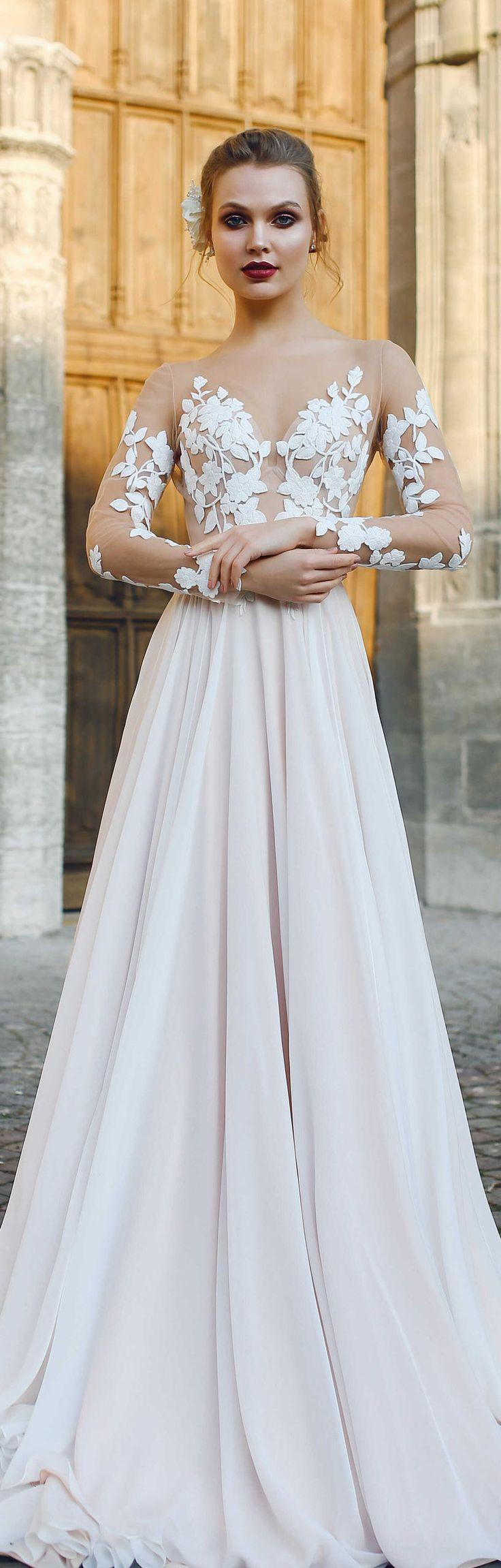 زفاف - Wedding Dress FILISI, Long Sleeve Wedding Dress, Simple Wedding Dress, Beach Wedding Dress, Wedding Dress Lace, Bohemian Wedding Dress