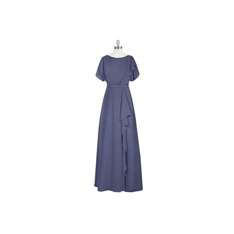 Hochzeit - Stormy Azazie Aaliyah - Back Zip Floor Length Chiffon Scoop Dress - Cheap Gorgeous Bridesmaids Store