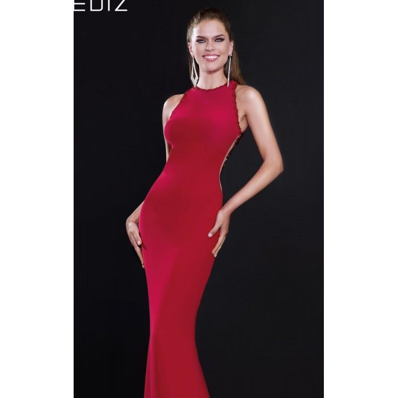 Свадьба - Red Beaded Slim Gown by Tarik Ediz - Color Your Classy Wardrobe