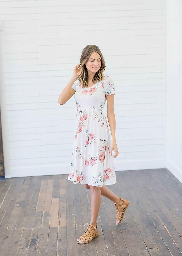Wedding - Spring Has Sprung Floral Midi Dress