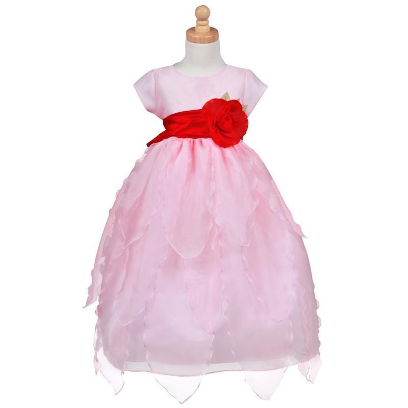 Свадьба - Blossom Pink Organza Dress w/ Petals Skirt Style: BL215 - Charming Wedding Party Dresses