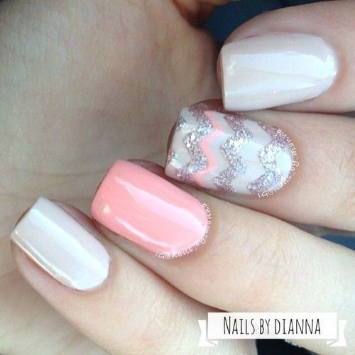 Wedding - 45 Flirty Spring Nail Art Ideas For Nail Polish Addicts ...