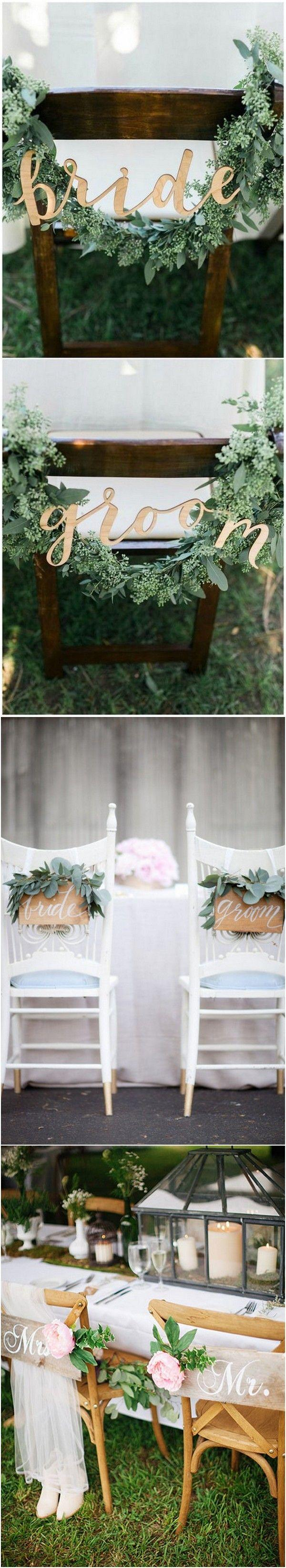 Mariage - 12 Chic Bride And Groom Wedding Chair Decoration Ideas - Page 2 Of 2