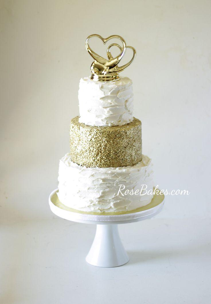 Mariage - Gold Sequin Cake