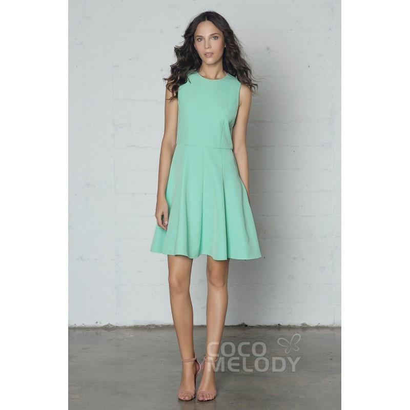 Mariage - Fashion Sheath-Column Jewel Natural Short-Mini Knitted Fabric Sleeveless Zipper Ruffles - Top Designer Wedding Online-Shop