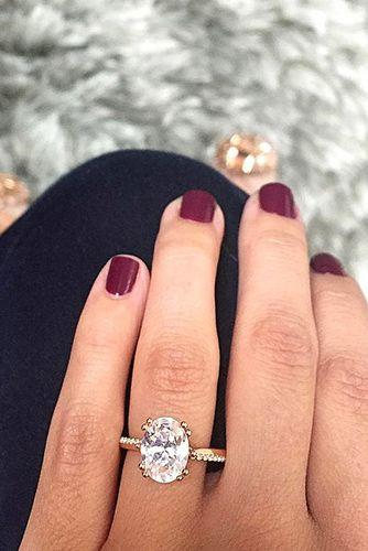 Wedding - 24 Cutest Rose Gold Engagement Rings That You've Ever Seen