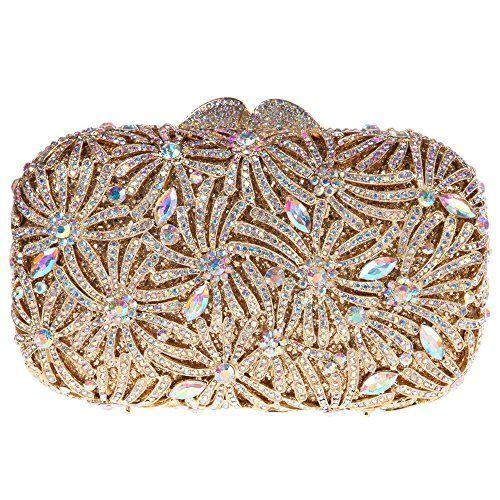 Hochzeit - Luxury Crystal Clutch Bag
