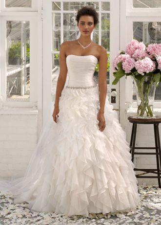 زفاف - Strapless Organza Ball Gown With Ruffle Detail Style AI10011984