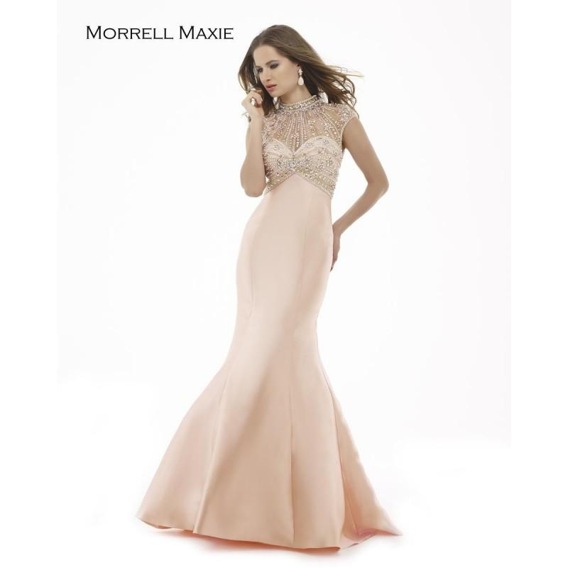 Wedding - Morrell Maxie 15240 Blush,Peacock Dress - The Unique Prom Store