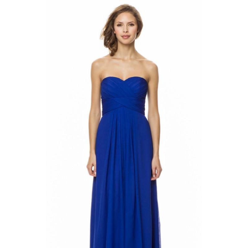 زفاف - Cobalt Pleated Sweetheart Gown by Bari Jay - Color Your Classy Wardrobe