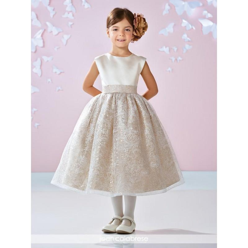 Wedding - Joan Calabrese 117351 Flower Girls Sequin Tulle Dress - Brand Prom Dresses