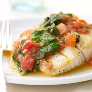 Boda - Sautéed Snapper With Plum Tomatoes And Spinach
