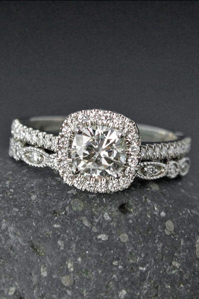 Wedding - 24 Moissanite Engagement Rings That Sparkle Like A Diamond