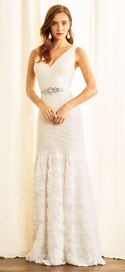 Mariage - Petal Chiffon Mermaid Dress With Jeweled Waist