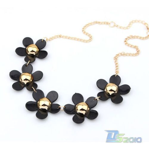 Wedding - Fashion Women Candy Colors Sweet Flower Elegant Chunky Statement Necklace Chain